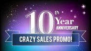 10th Year Anniversary Sales